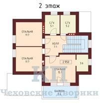 Планировка коттеджа 2 этаж